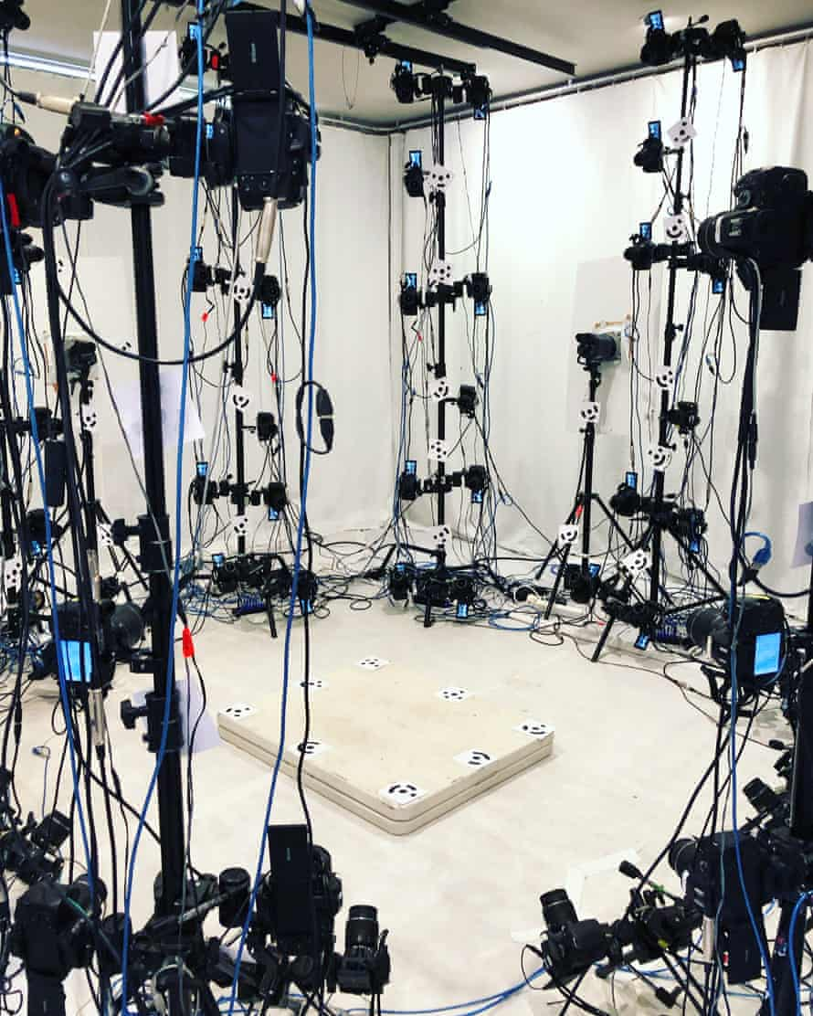 The studio of 110 synchronised cameras where Hoda Afshar photographed her subjects.