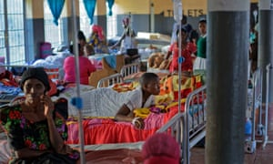 A crowded maternity ward at the Kalisizo General Hospital in central Uganda.