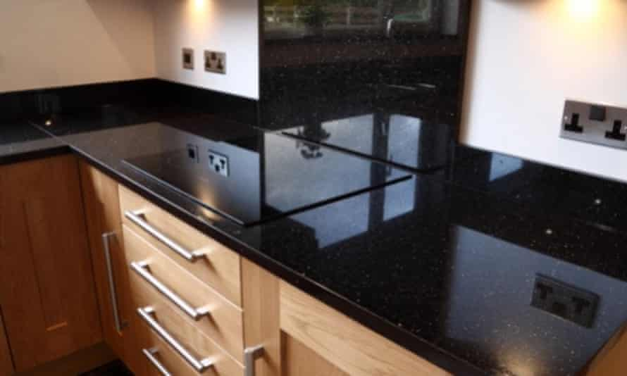 A star galaxy granite kitchen worktop, taken from the mistermarble website.
