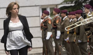 This image of Chacón reviewing the troops while heavily pregnant came to symbolise a new era in Spanish politics.
