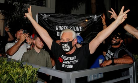 Roger Stone outside his home in Fort Lauderdale, Florida, on Friday.