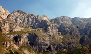 Fuente Dé cable car, Picos de Europa national park, northern Spain.