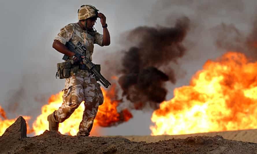 British soldiers in Iraq, 2003.