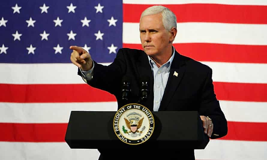 Vice-president Mike Pence at a campaign rally.