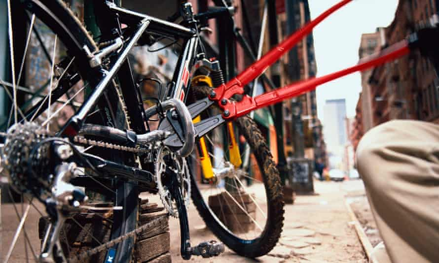 Bicycle Thief Cutting Lock