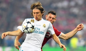 Luka Modric is in irresistible form in 2018.