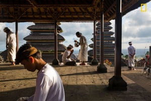 Blessings at Besakih Temple