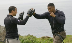 Bear Grylls and Anthony Joshua in Bear's Mission.