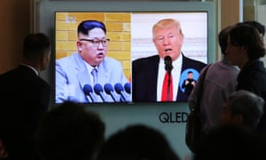 Trump said of the upcoming talks: 'The true honour is going to be if we have a victory in getting rid of nuclear weapons.'