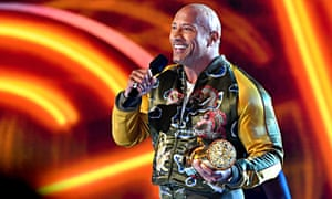 Hollywood didn't know what to do with me' … Dwayne Johnson accepts the generational award.