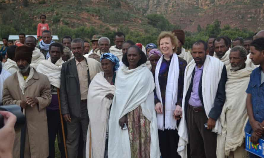 Mary Robinson at the Trócaire project in Adigrat in north Ethiopia