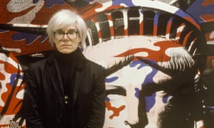Andy Warhol paints the Statue of Liberty in Paris, France on April 22nd, 1986