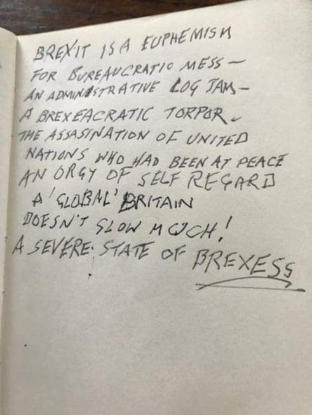 Brexit poem by Ralph Steadman