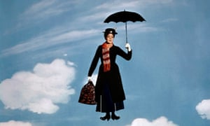 Julie Andrews in Mary Poppins.