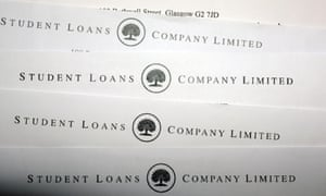 Student Loans Company-headed pieces of paper