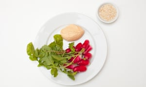 'Salt and smoke and fishy oils': radishes and cod's roe.