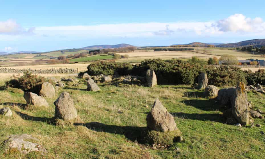 Stone circle in Leochel-Cushnie