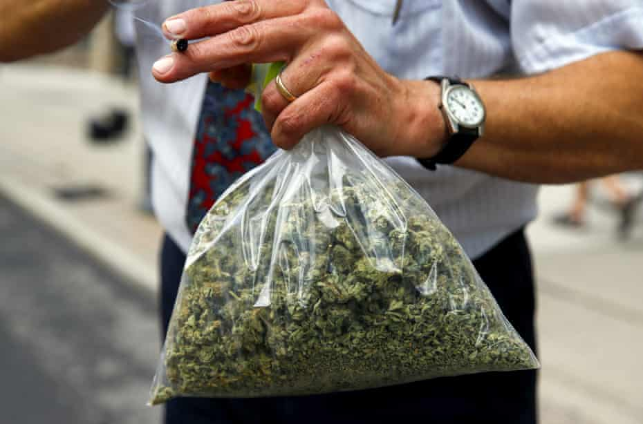 A bag of cannabis seen in Toronto. Canada is likely to become the first large industrialized nation to legalize recreational use.