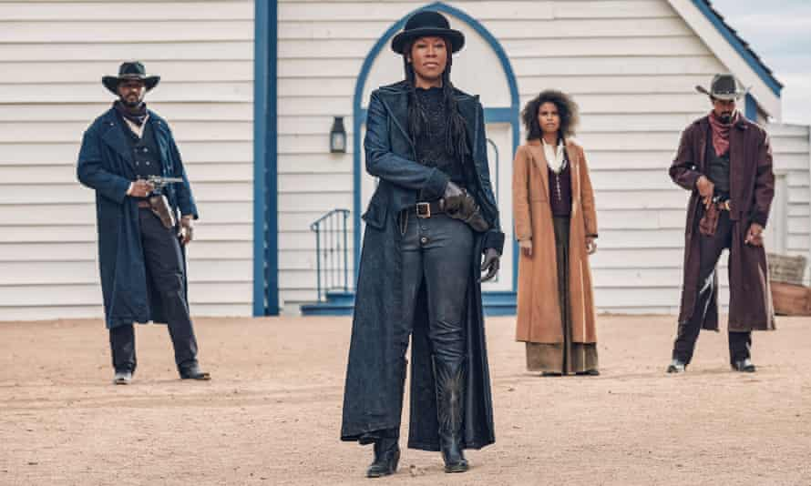 'The agency of the character is important … Regina King, centre, in The Harder They Fall.