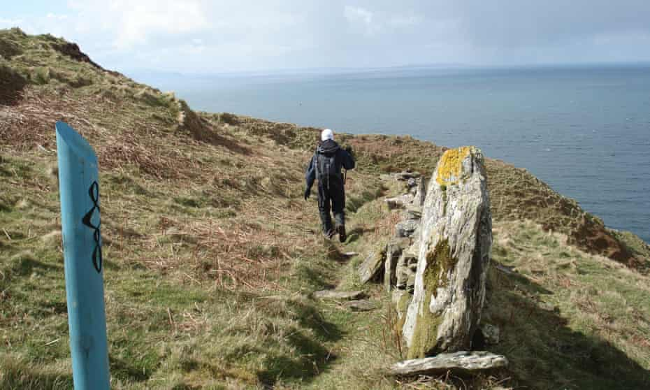 A walker on the Kintyre Way