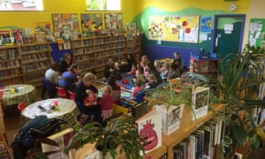 Children's reading group at Burley library