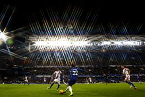 A general view of match action at Stamford Bridge as Chelsea beat Crystal Palace 3-1.