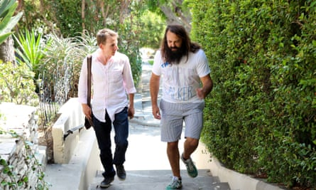 Chuck McCarthy walks with the Guardian's Rory Carroll in the Hollywood Hills.