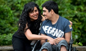 Parmi Dheensa, the founder of the Include Me Too support charity, with her son Callum, 19.