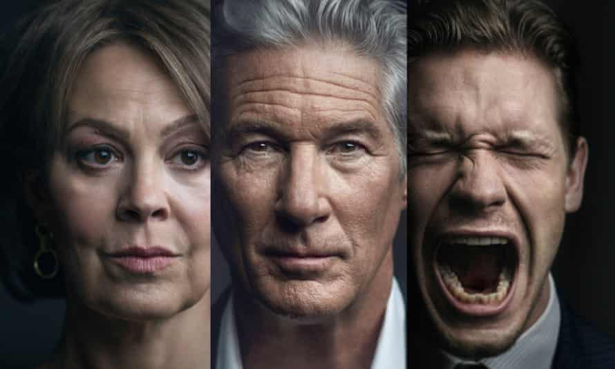 Family affair …Helen McCrory, Richard Gere and Billy Howle.