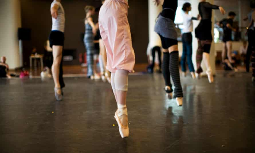 A public ballet class takes place in the Ballroom at the Royal Festival Hall