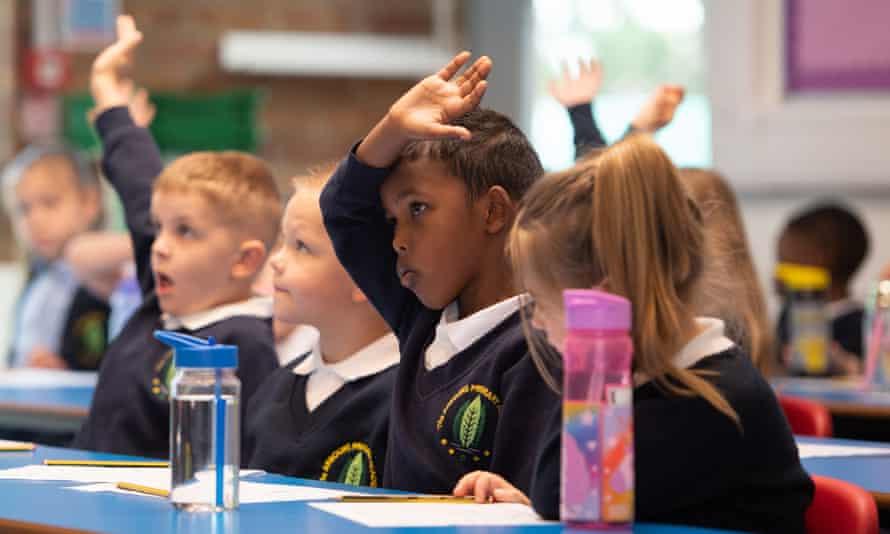 Primary schoolchildren.