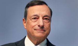 President of the European Central Bank (ECB) Mario Draghi poses before giving today's press conference.