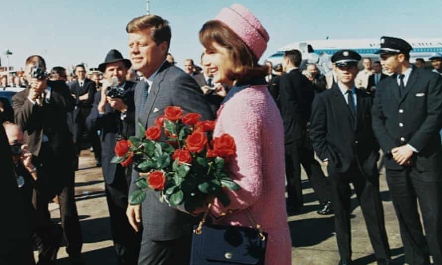 John and Jackie Kennedy arriving at Love Field in Dallas in 1963.
