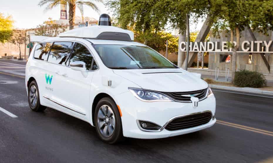 A Waymo self-driving taxi in Phoenix, Arizona