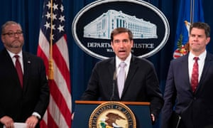 The assistant attorney general for national security, John Demers, during a press conference about alleged Chinese pilfering of intellectual property at the justice department in Washington on Thursday.