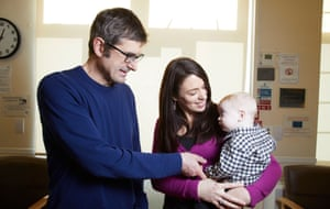Louis Theroux with new mother Catherine and her son Jake.