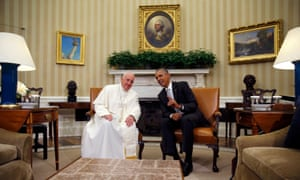 Obama and Pope Francis Oval Office