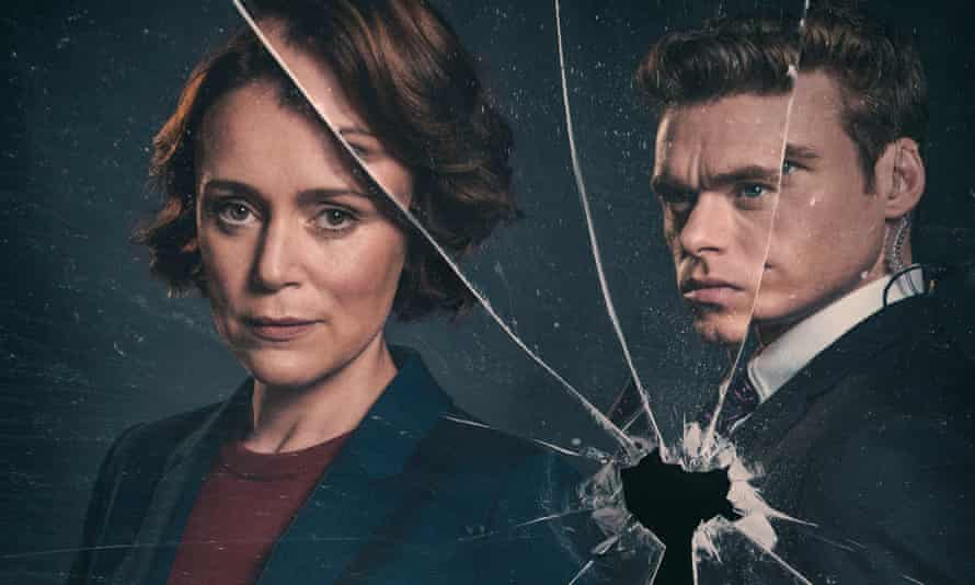 Julia Montague (Keeley Hawes) and David Budd (Richard Madden) in The Bodyguard