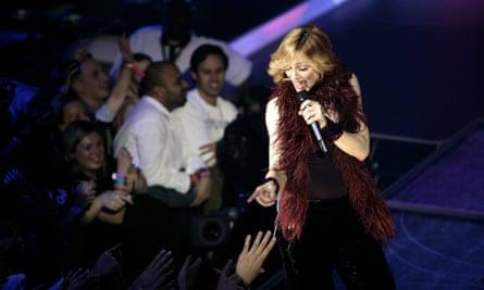 Madonna performs at Koko in 2005