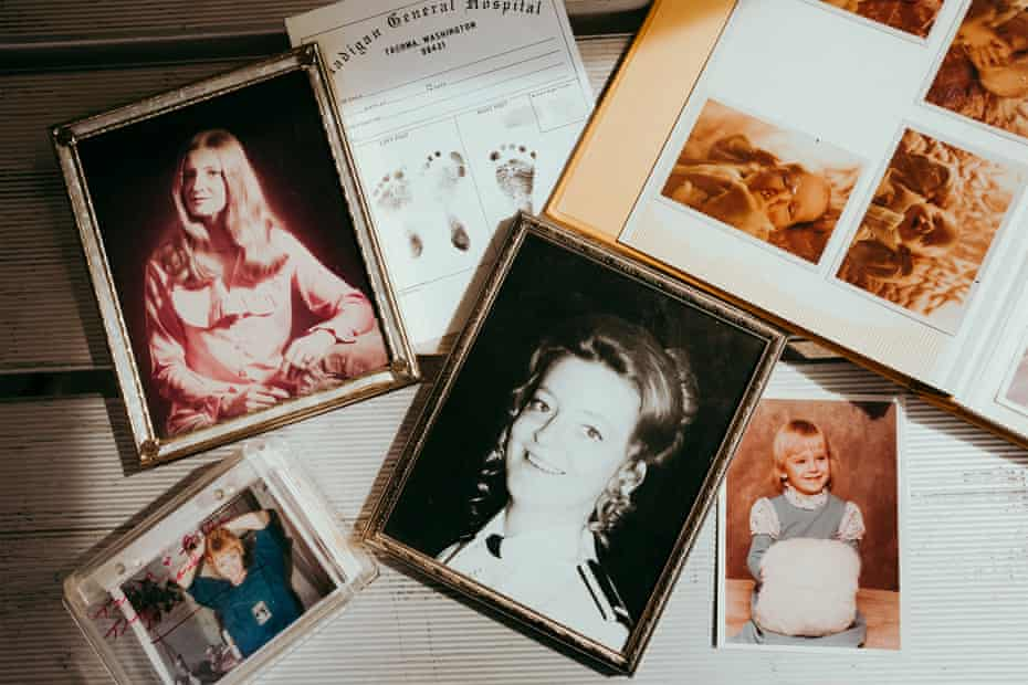 Photo albums and portraits of Susan Struck and Tanya Marie.