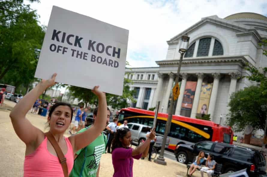 Smithsonian links with David Koch has been met with protests.