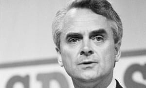 Robert Maclennan making his first speech to the party at the SDP conference in Portsmouth, Hampshire, in 1987.
