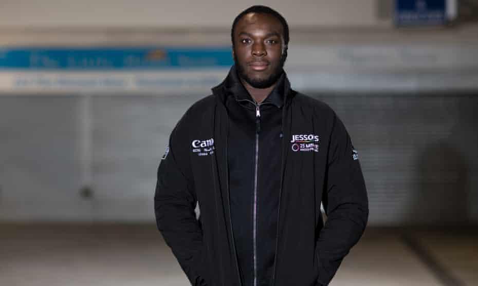 Jamal Forrester with his Jessops jacket.