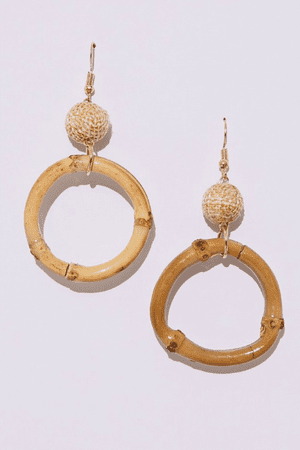 Hoop dreamsEmbrace spring/summer's two big trends, craft and neutrals, with these geometric bamboo drop earrings which will elevate and personalise dresses and tailoring. £4.99, inthestyle.com