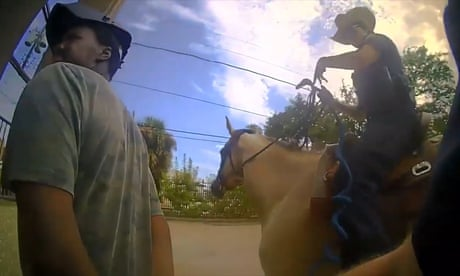 This is gonna look so bad': bodycam footage shows Texas police leading black man by rope – video