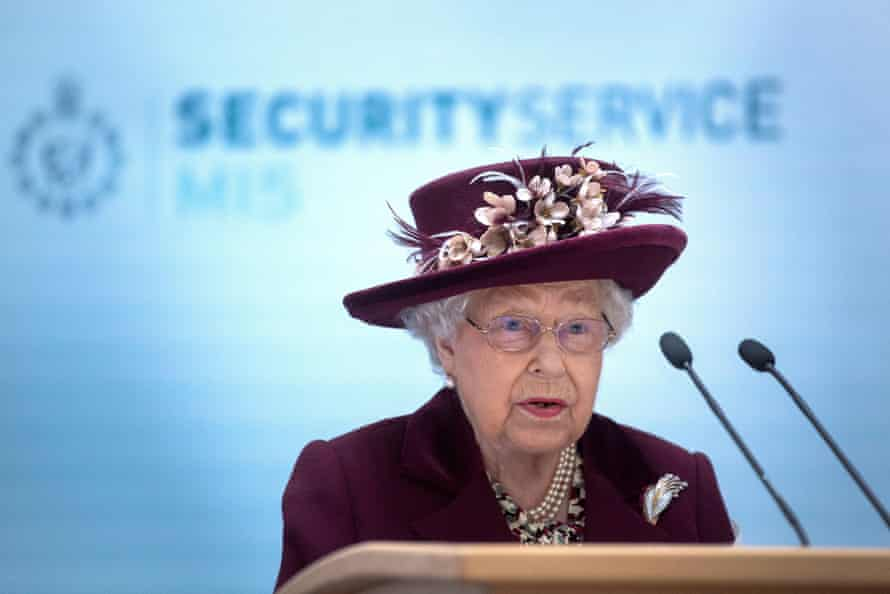 The Queen during a visit to MI5's London headquarters, where she was briefed on current investigations and operations, in February.