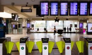 Melbourne's Flinders Street railway station is almost empty in the coronavirus outbreak