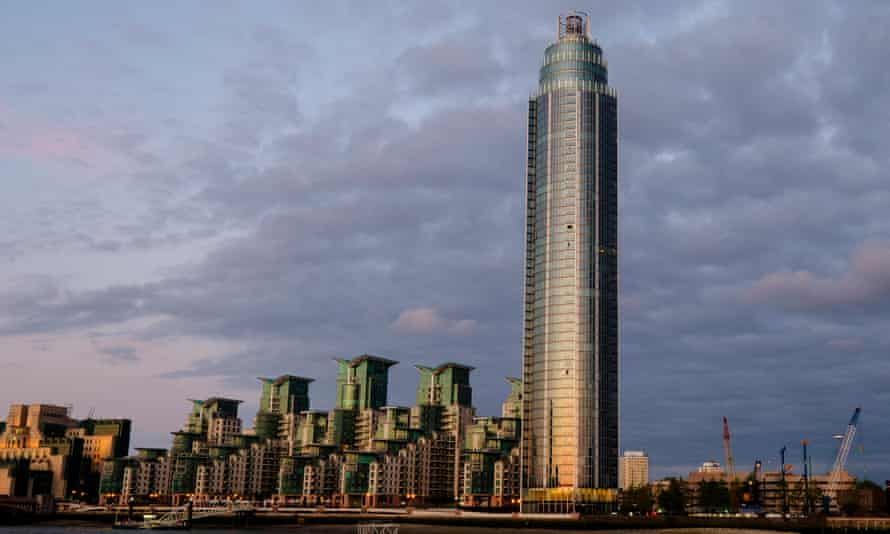 London's The Tower, the largest skyscraper in Europe, which is largely unoccupied - a practice condemned by the city's new mayor, Sadiq Khan.
