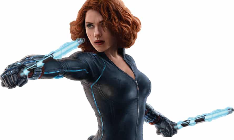 Silenced by the crisis … Scarlett Johansson as Black Widow.