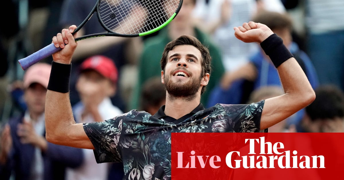 d33ec2676 French Open: Khachanov beats Del Potro, Halep and Djokovic through – as it  happened | Sport | The Guardian